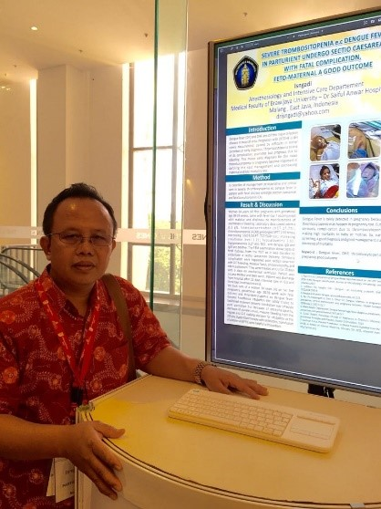 dr. Isngadi, M.Kes., Sp.An, KAO pemenang oral presentasi pada acara The 1st World Congress of Anesthesia on Obstetric 1